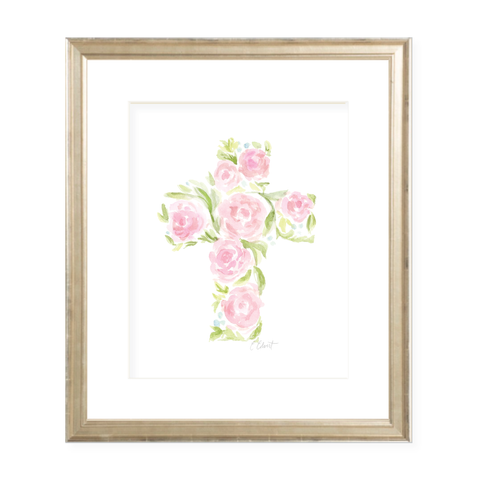 Anna's Cross Portrait Watercolor Print