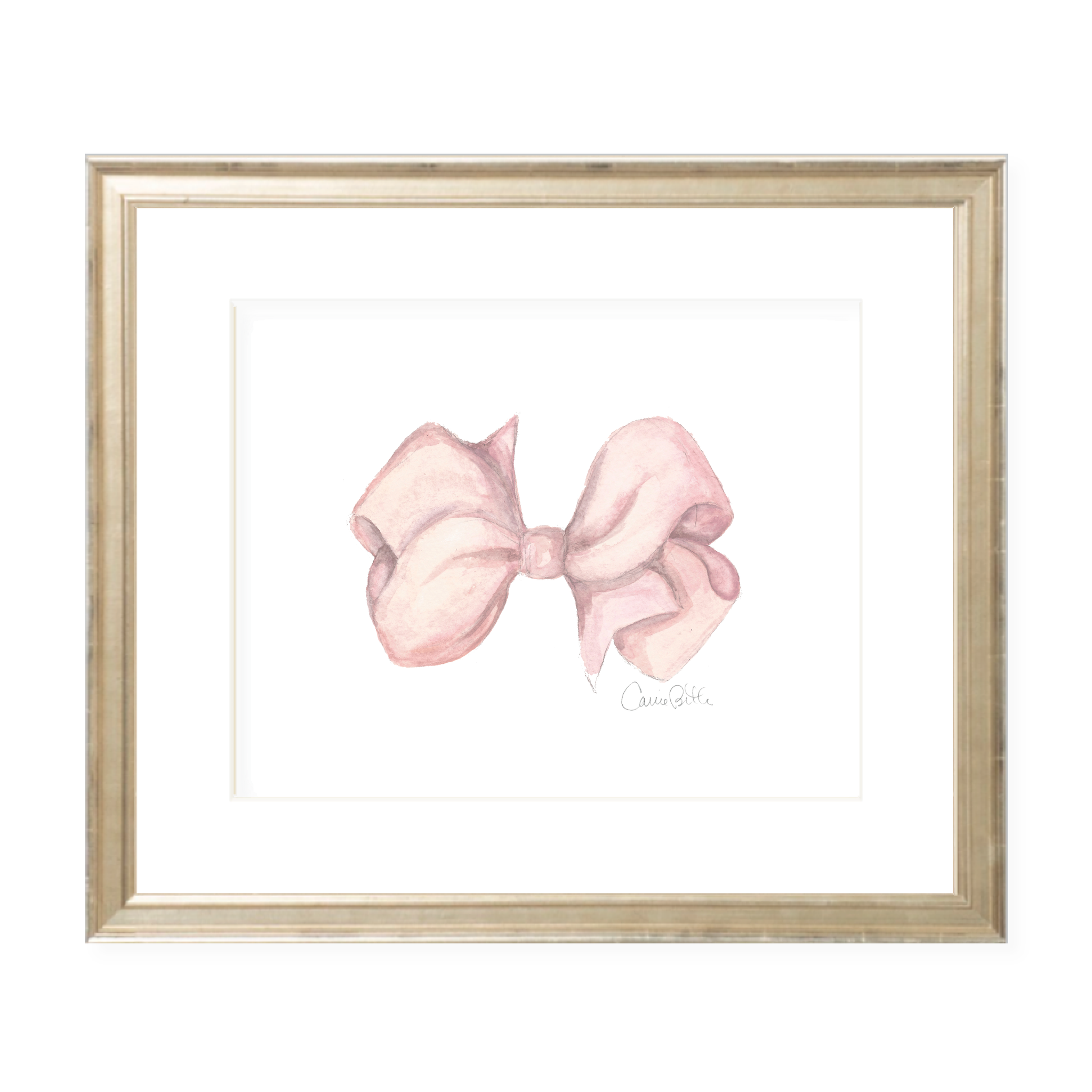 Anne Ryan Bow Watercolor Print