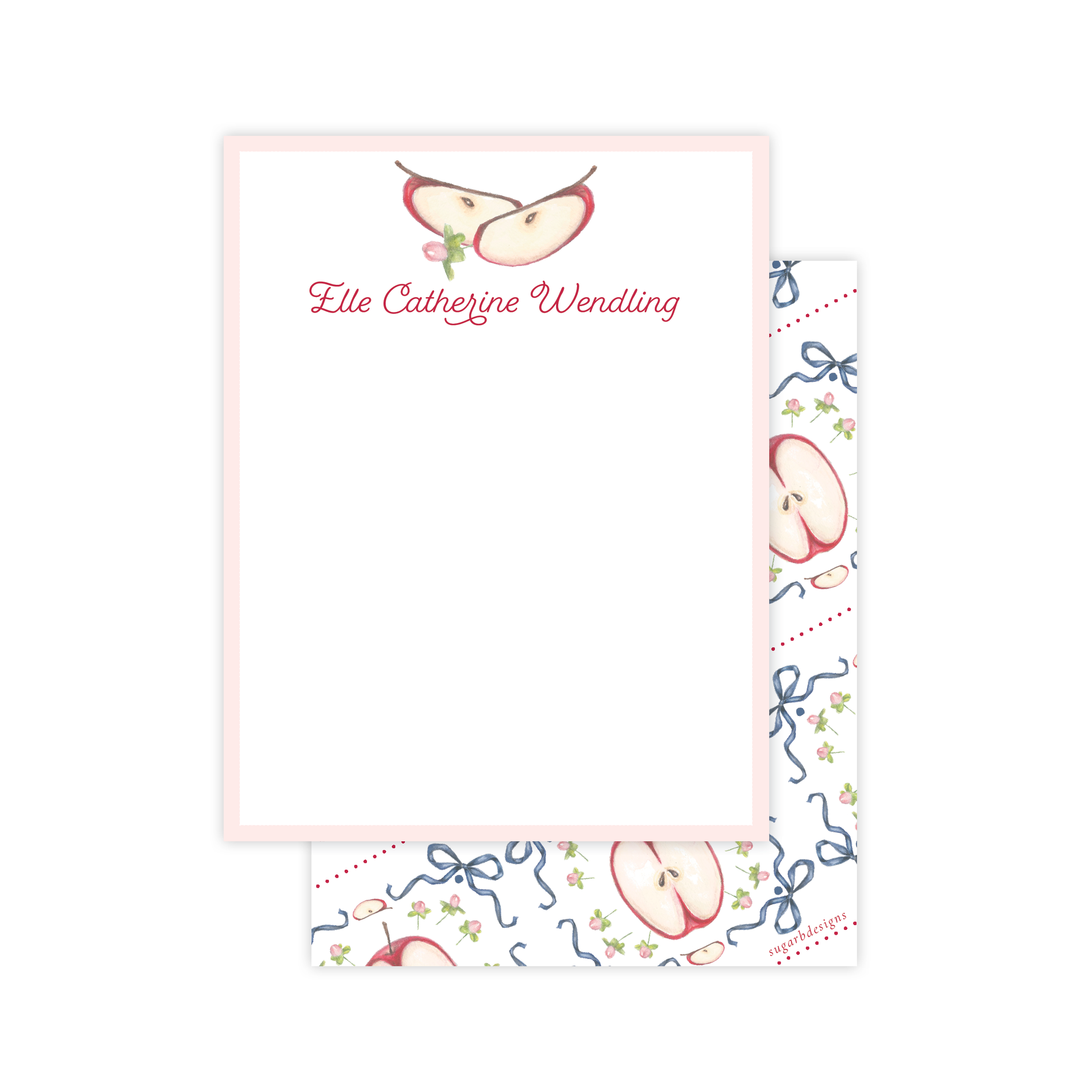 Apples Flat Stationery