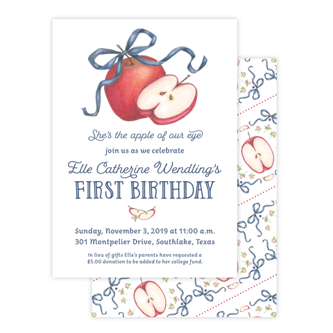 Apples Birthday Invitation