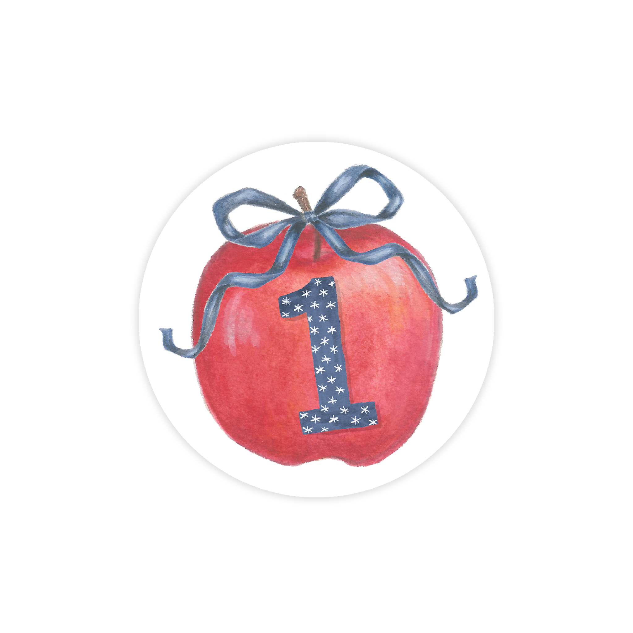 Apples One Year Old Round Sticker