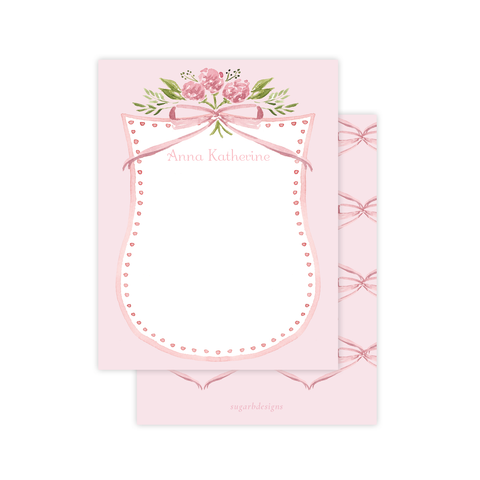 Arabella Pink Flat Stationery