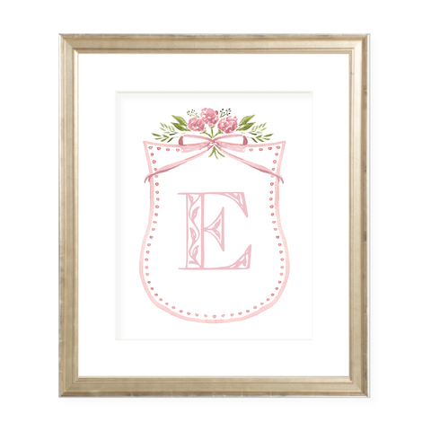 Arabella Letter Art Print 8 x 10 Watercolor Print