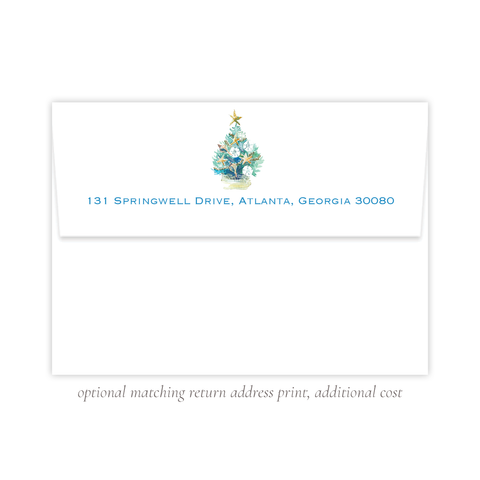 Beach Tree A7 Return Address Print