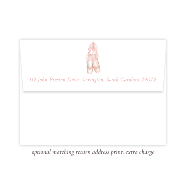 Ballet Slippers Birthday Invitation