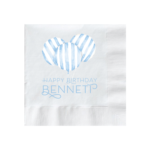 Balloon Blue Stripe Napkin