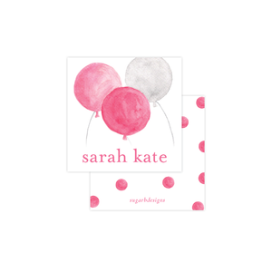 Balloons for Cates Pink Calling Card