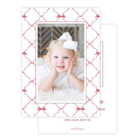 Banner Ribbon in Red Christmas Card