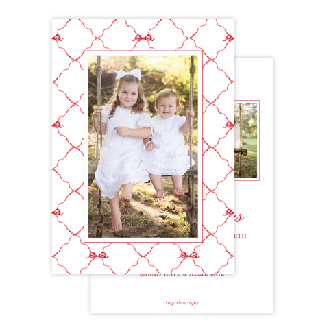 Banner Ribbon in Red Multi Photo Christmas Card