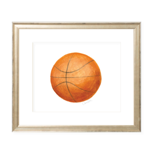 Basketball Landscape Watercolor Print