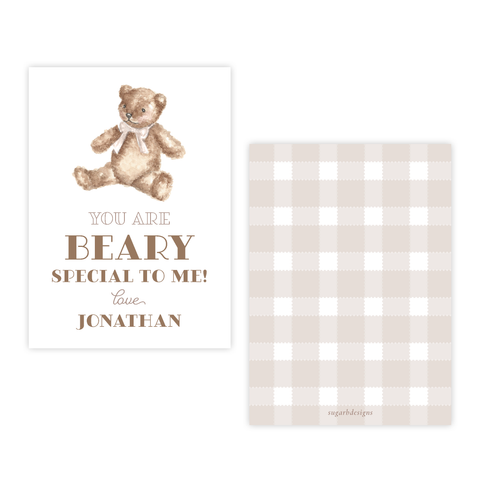 Beary Special 4 Bar Party Favor Gift Tag