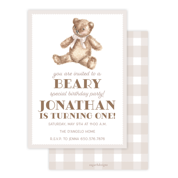 Beary Special Birthday Invitation by Sugar B Designs