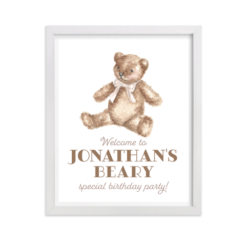 Beary Special Party Sign by Sugar B Designs