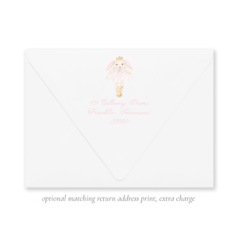 Bella Bunny Tutu Return Address Print