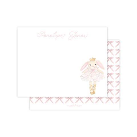 Bella Bunny Tutu Flat Stationery