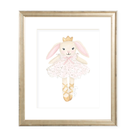 Bella Bunny Tutu Portrait Watercolor Print