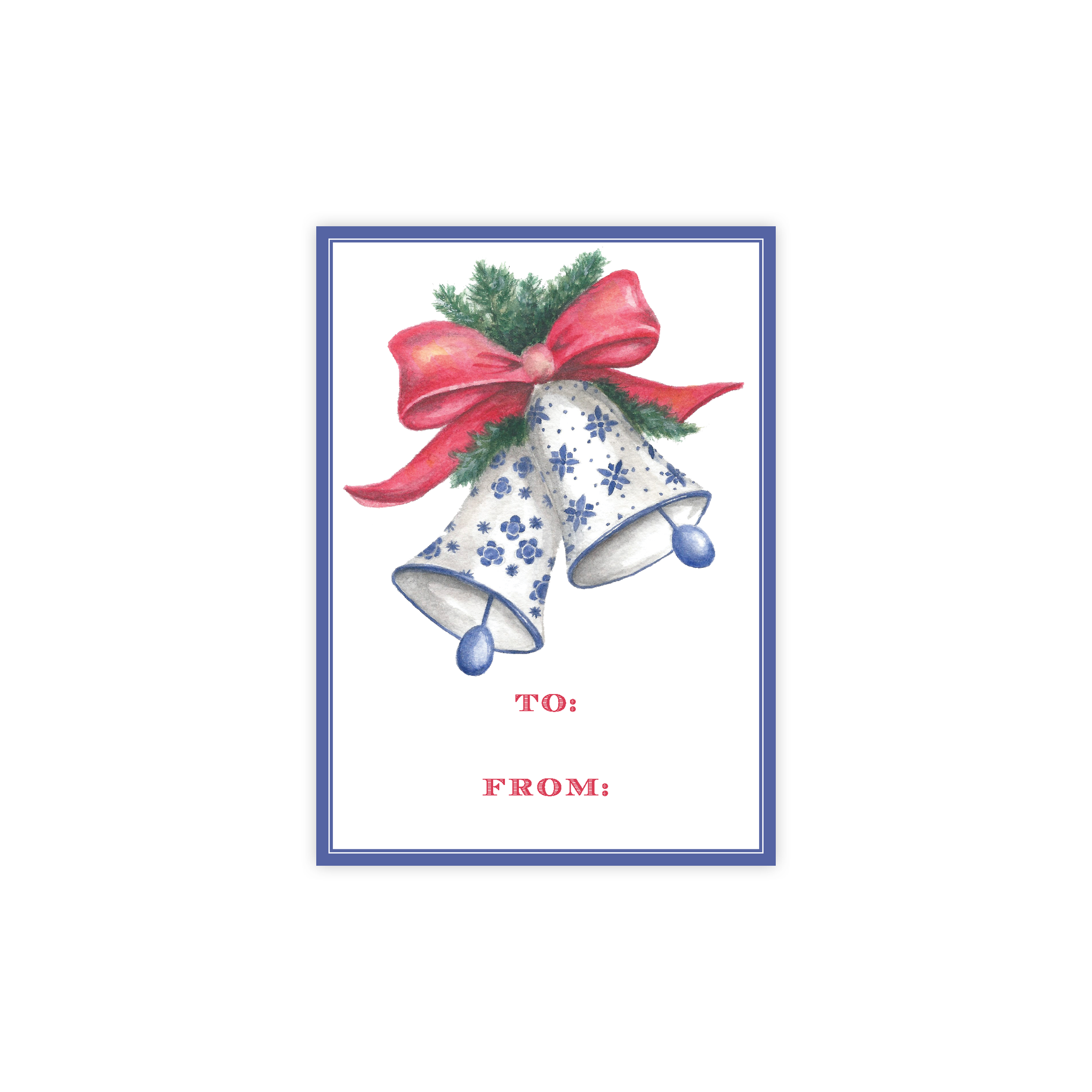 Bells of Belmont 4 Bar Christmas Gift Tag : DIGITAL DOWNLOAD PRINTABLE TAG