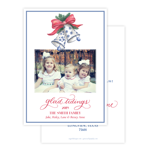 Bells of Belmont Change of Address Christmas Card
