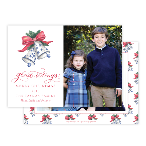 Bells of Belmont Horizontal Christmas Card