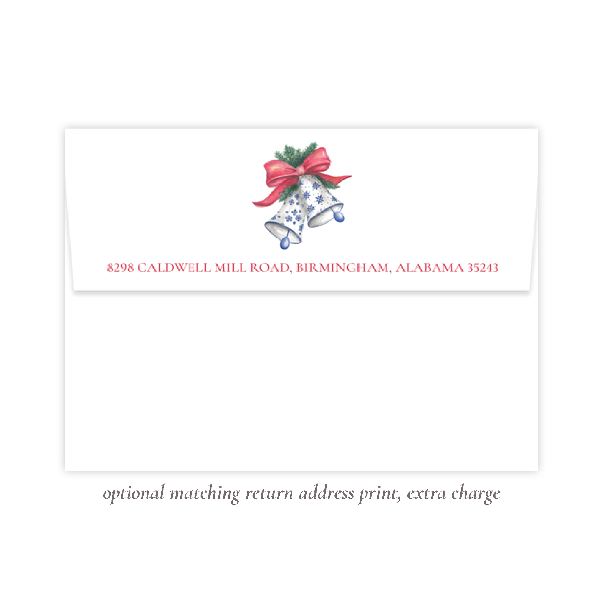 Bells of Belmont Christmas Return Address Print