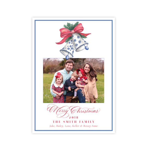 Bells of Belmont 'Merry Christmas' Vertical Christmas Card
