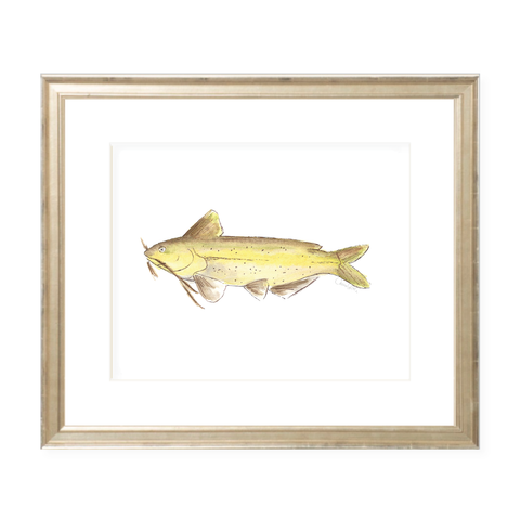 Big Fish Landscape Watercolor Print