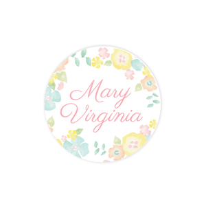 Biltmore Bouquet Inspired Round Sticker
