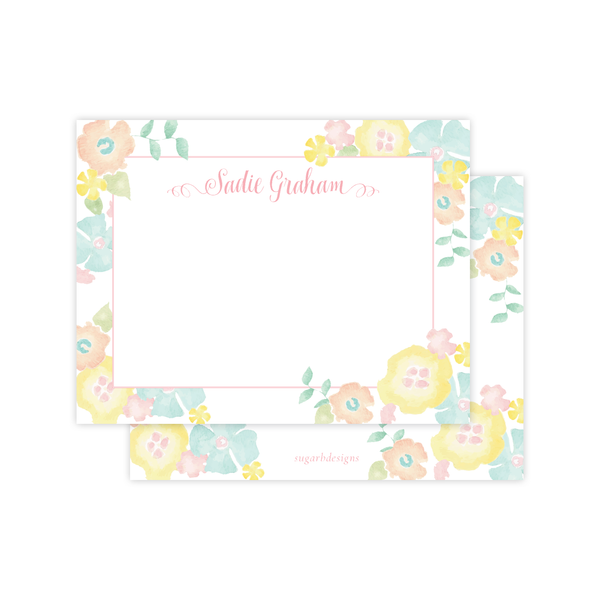 Biltmore Bouquet Inspired Flat Stationery