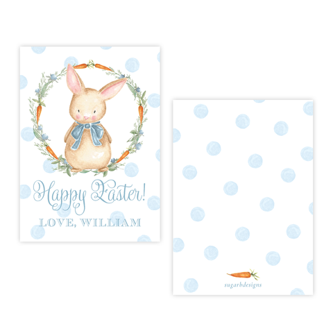 Boo Boo Bunny Blue Happy Easter 4 Bar Gift Tag
