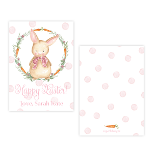 Boo Boo Bunny Pink Happy Easter Party Favor Gift Tag