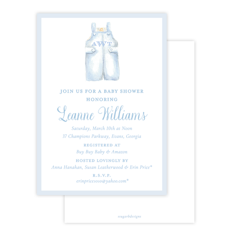 Boy John John Baby Shower Invitation