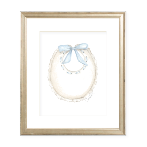 Bridges Bib Blue Watercolor Print