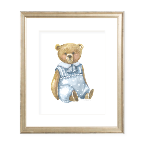 Briggs Bear Portrait Watercolor Print
