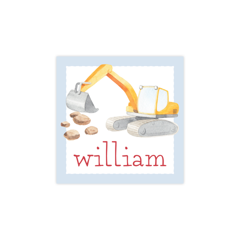 Bulldozer Construction Square Sticker