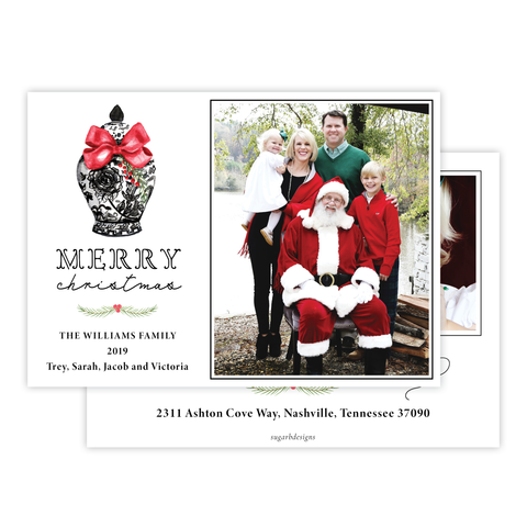 Byram Ginger Jar Black Change of Address Christmas Card