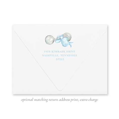 Carlson Rattle Blue Return Address Print