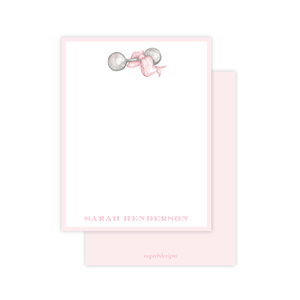 Carlson Rattle Pink Flat Stationery