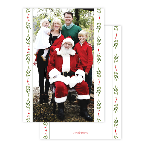 Clayton Wreath Christmas Card Long Portrait