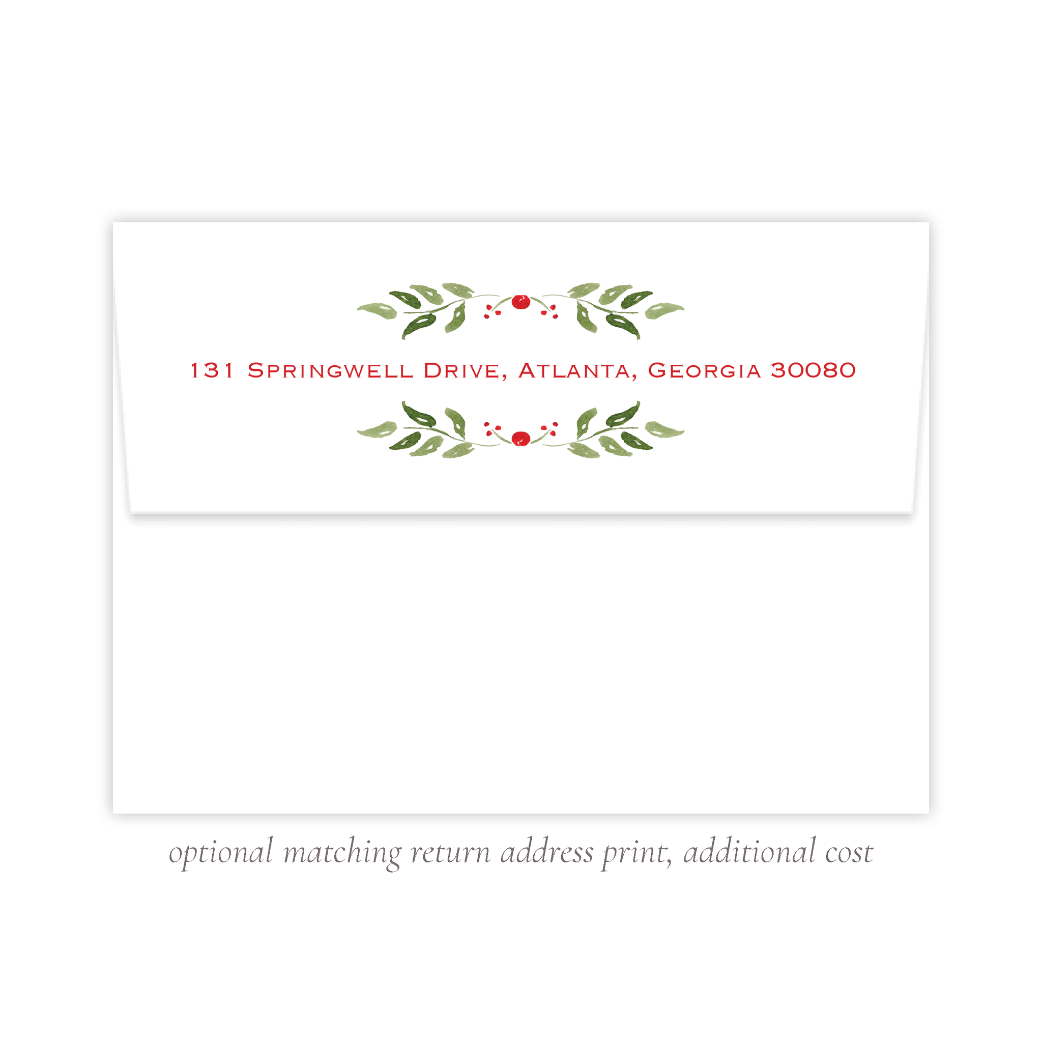 Clayton Wreath A7 Return Address Print