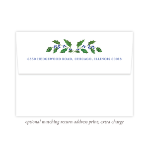 Caddell Blue Return Address Print