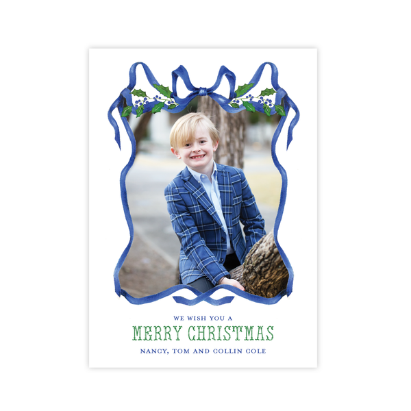 Caddell in Blue Christmas Card