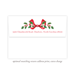 Caddell Christmas Red Return Address Print