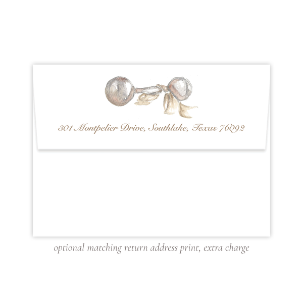 Carlson Rattle Neutral Flat Stationery