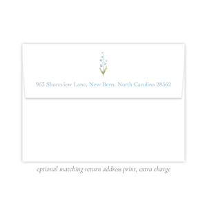 Cassatt Blue Return Address Print