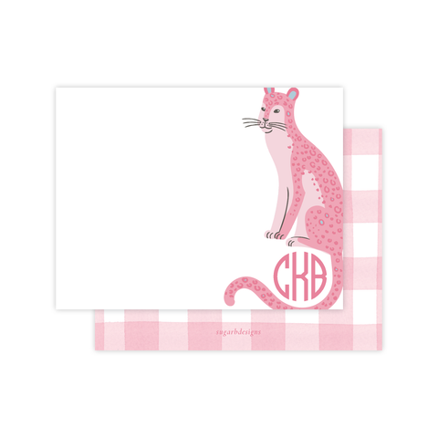 Cat Nip in Pink Flat Stationery