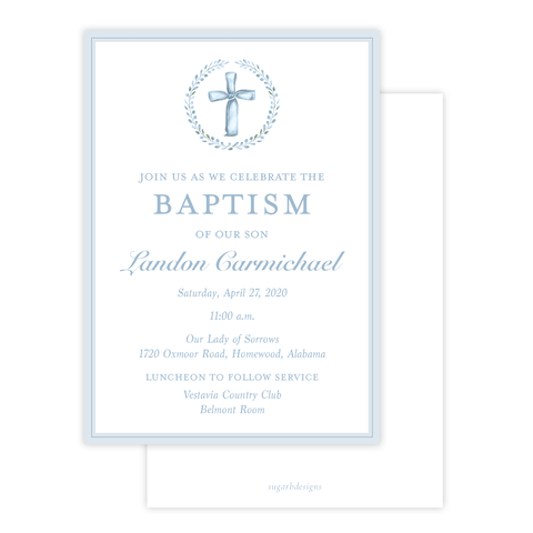 Cayden's Cross Baptism Invitation