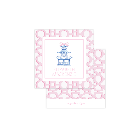 Charming Chin Pink Calling Card