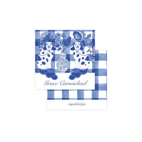Chin Chin Pups in Blue Calling Card