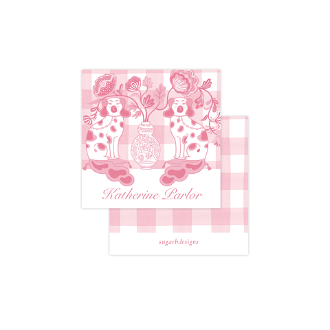 Chin Chin Pups in Pink Calling Card