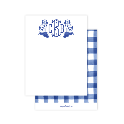 Chin Chin Pups in Blue Flat Stationery